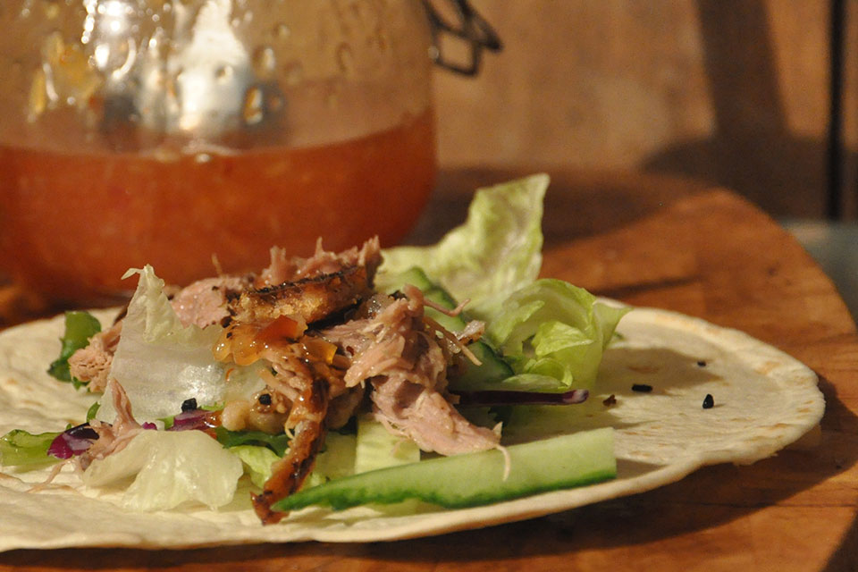 Slow Roasted Lamb Pitta Wraps